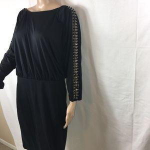 AMERICAN GLAMOUR BADGLEY MISCHKA BLACK LBD DRESS-S